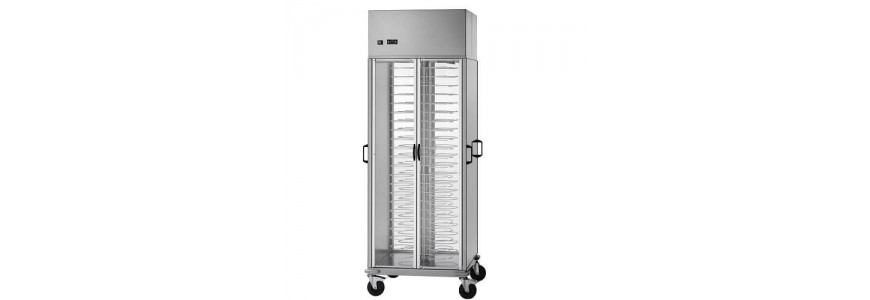 Refrigerated trolleys for trays and dishes