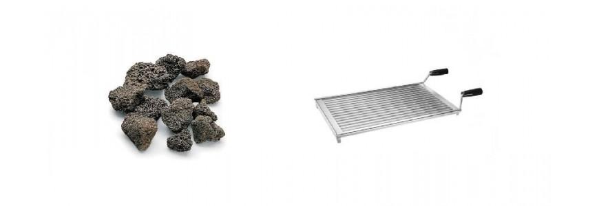 Accessories for lava stone grills